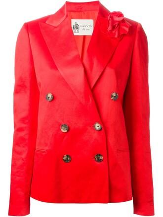 blazer red jacket