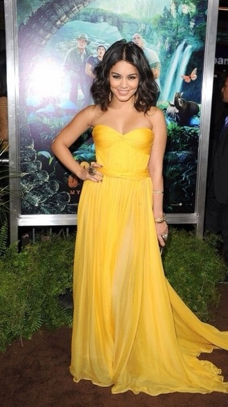 dress long dress yellow vanessa hudgens prom dress amazing elegant dress long prom dress