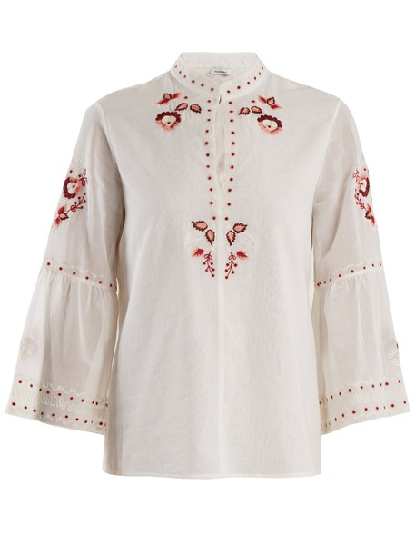 Vilshenko blouse embroidered cotton top