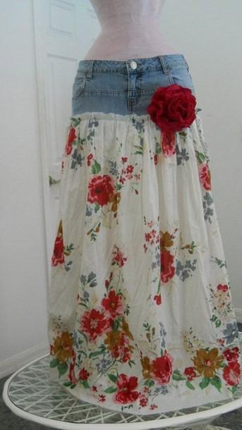 Комбинированная юбка своими руками