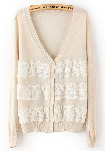 Neck loose thin knit cardigan