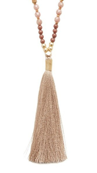 tassel necklace nude jewels