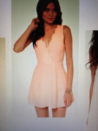 dress peach scalloped