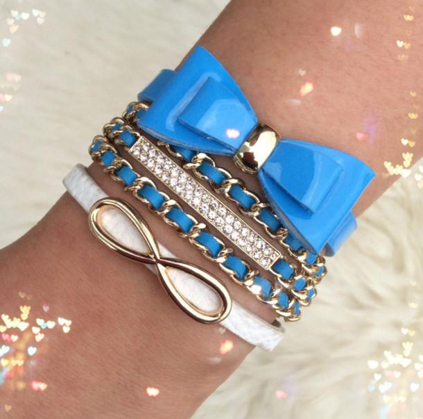 blue bracelets jewels