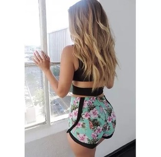 shorts flower floral cute girly bohemian