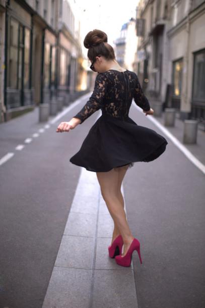 Dress Little Black Dress Black Dress Black Lace Dress Short