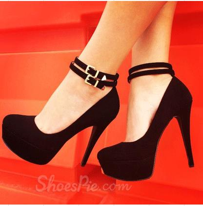 High Heels With Ankle Strap - Qu Heel