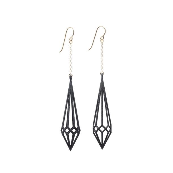 Deco Earrings Black by Summerized | Fab.com