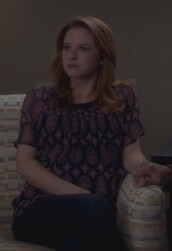 blouse,grey's anatomy,april kepner,sarah drew,silk
