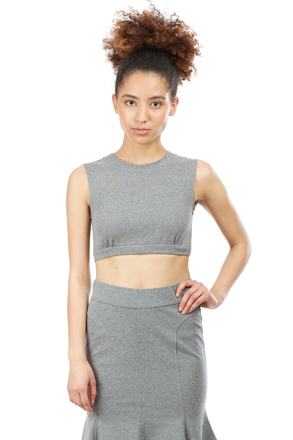 Norma Kamali Sleeveless Midriff Top - WOMEN - Tops - Norma Kamali - OPENING CEREMONY