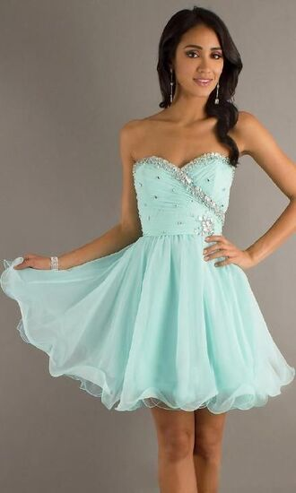 dress fancy party beautiful turquoise