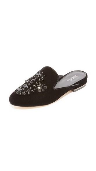 embellished mules black shoes