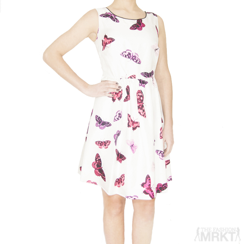 Pink Tartan Butterfly Print Veronica Dress / TheFashionMRKT