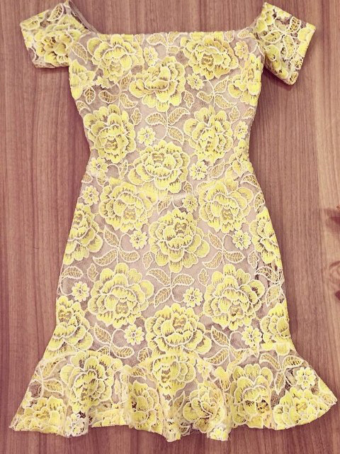 Aliexpress.com : buy nextshe rose flower lace pattern party dresses yellow free shipping from reliable lace formal dress suppliers on nextshe group ltd