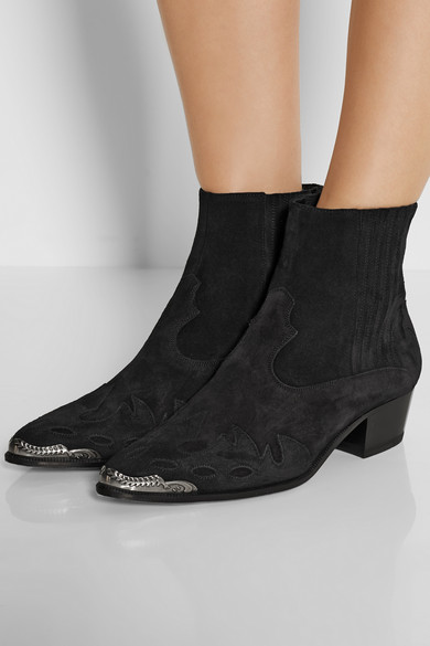 Duckies suede ankle boots