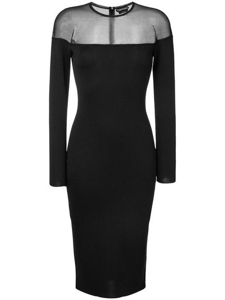 dress women black silk