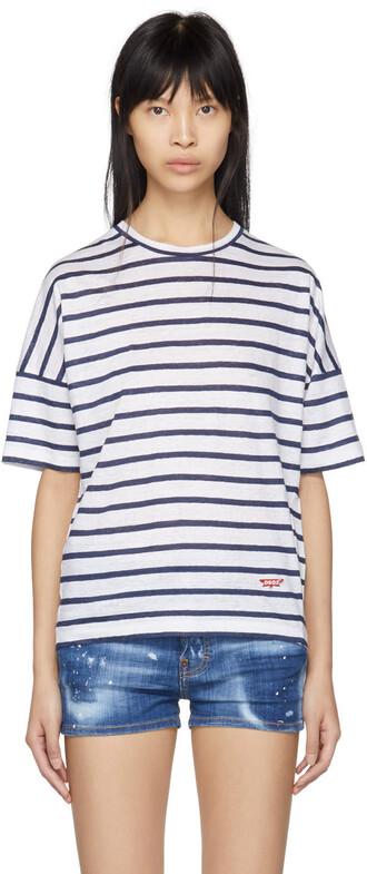 t-shirt shirt navy white top