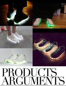 Cool Lovers Light Shoes Lace Up LED Light Glow Heels Causla Skateboard Sneakers