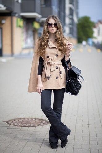 acid coke blogger sunglasses cape beige coat white maxi dress belt beige cream instagram