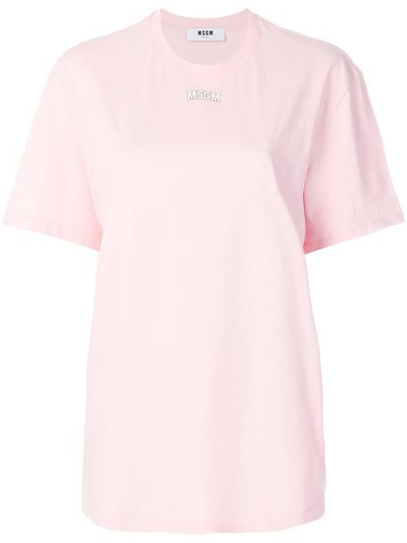 MSGM t-shirt shirt t-shirt oversized women cotton purple pink top