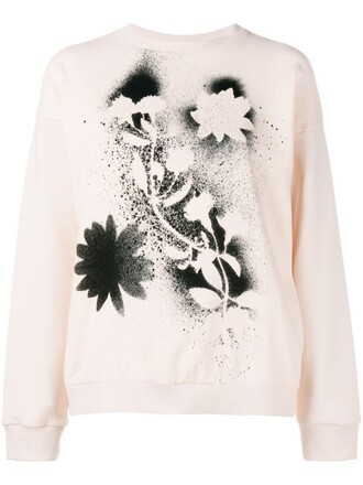 sweatshirt print nude sweater
