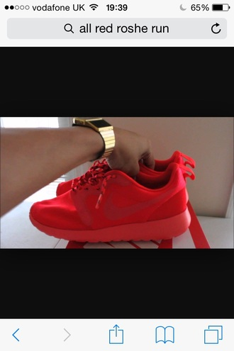 shoes red red shoes nike roshe run nike nike shoes