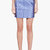 richard nicoll blue python jacquard mini skirt