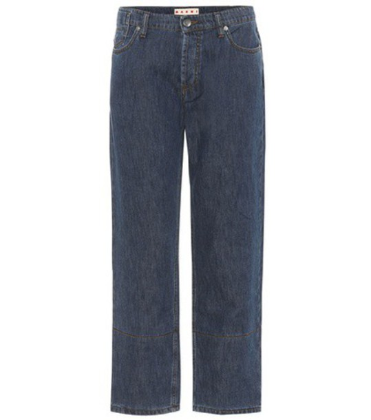 MARNI jeans cotton blue