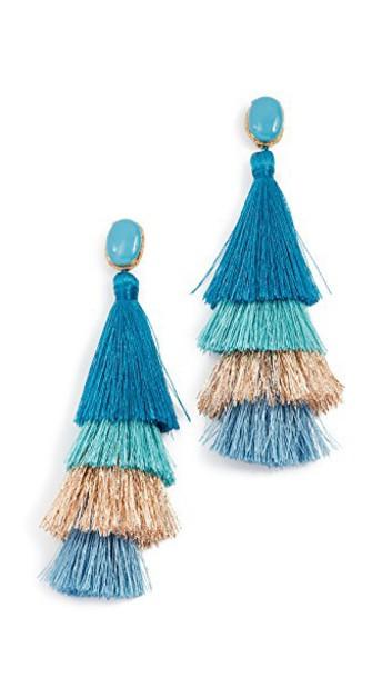 DEEPA GURNANI earrings blue sky blue jewels