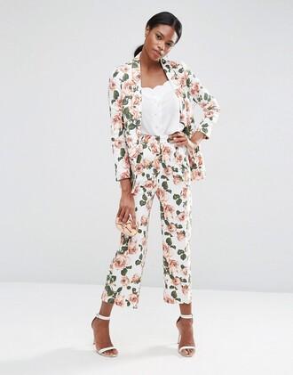 jacket suit jacket blazer outerwear clothes floral jacket
