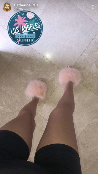 shoes pink fluffy heels