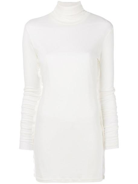 YANG LI sweater turtleneck turtleneck sweater long women white
