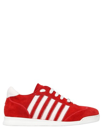 suede sneakers sneakers suede white red shoes
