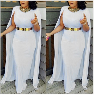 dress long dress white long dress cape sleeve dress cape sleeve white dress