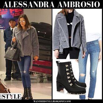 coat storets faux fur faux fur coat winter outfits winter coat celebrity alessandra ambrosio