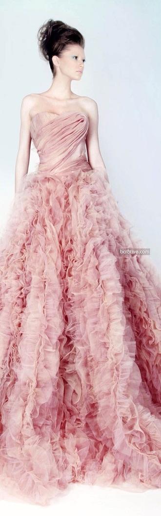 dress pink dress long dress strapless dresses