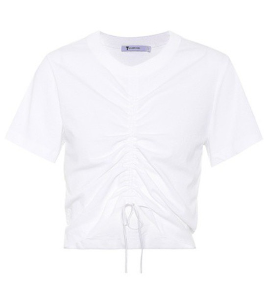 T by Alexander Wang t-shirt shirt t-shirt drawstring cotton white top