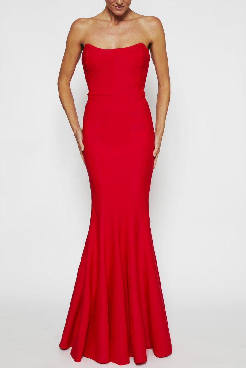 Oscar Gown in Scarlet by Rachel Gilbert | ARCHFASHION