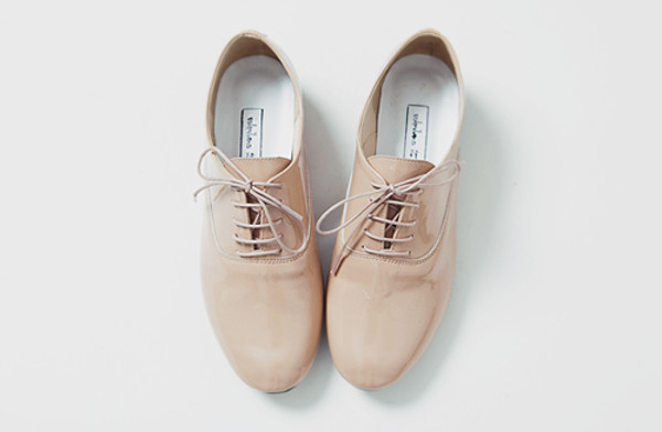 shoes patent leather leather patent oxfords cream pink pastel pink