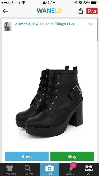 shoes boots back black combat boots