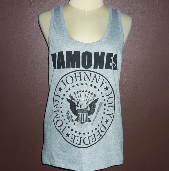 You rock tee ramones tank top racerback shirt vintage rare girl shirt punk concert band sub pop ramones music rock gift tshirt s m l xxl
