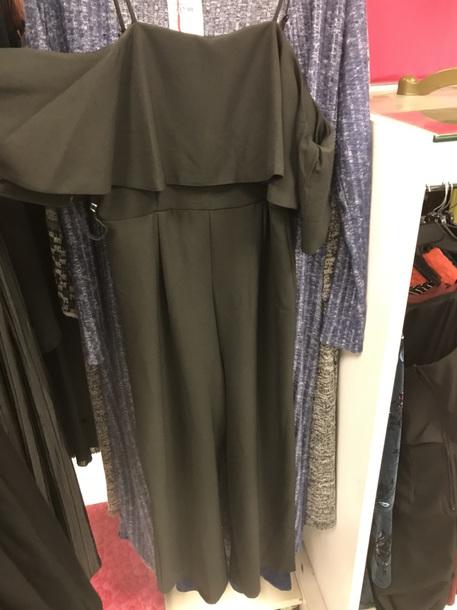 jumpsuit black off the shoulder long
