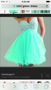 dress,prom dress,short prom dress,blue dress,mint dress,jewelled top,short dress,i want exaxtly the same color