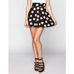 FULL TILT Daisy Print Skater Skirt - Polyvore