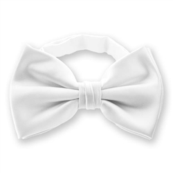 White Bow Ties | SolidColorNeckties.com