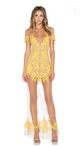 dress,for love and lemons,maxi,maxi dress,lace,lace dress,sheer,overlay,lemon,elegant,hot,short,tight,fancy,prom,formal,yellow,gold,wedding guest,prom dress,long dress,long prom dress,luau,luau maxi,colorful,bright,stand out