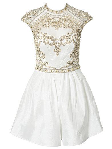 Jemima Dress - Forever Unique - Ivory - Feestjurken - Kleding - Vrouw - Nelly.com