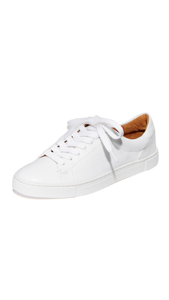 Frye Ivy Low Lace Sneakers - White