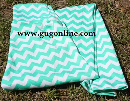 Heart Breaker, Comfort Maker Mint and White Chevron Leggings