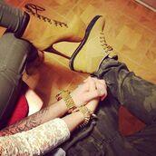 pants,shoes,timberland high heels,brown timberland,timberlands